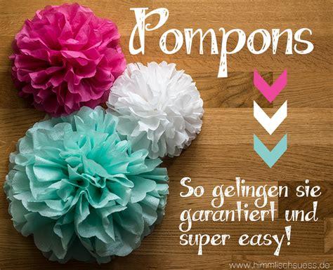 pompons selber machen servietten himmlisch s 252 sse back und diy ideen 187 archive 187 diy pompons basteln