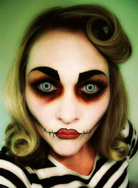 extremely horrible makeup ideas  halloween pretty designs