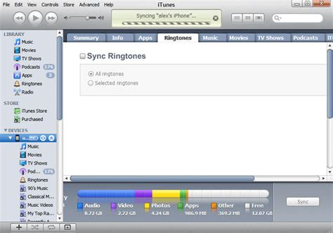 sync iphone to iphone custom ringtone not showing up iphone 4 ringtone