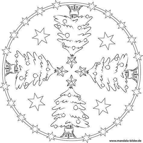 mandala weihnachtsbaum mit weihnachtsstern