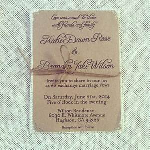 Rustic kraft wedding invitations with ivory burlap 100 for Wedding invitations 100 count