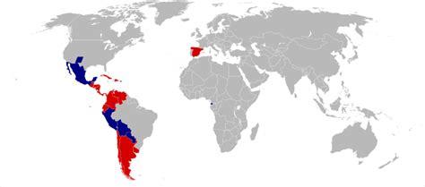 carte du monde des pays qui parle espagnol archives