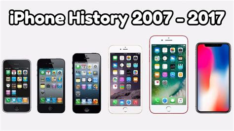 iphone history iphone history 2007 2017
