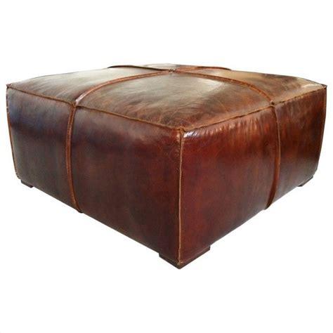 brown ottoman coffee table moe 39 s stamford leather ottoman coffee table in brown pk