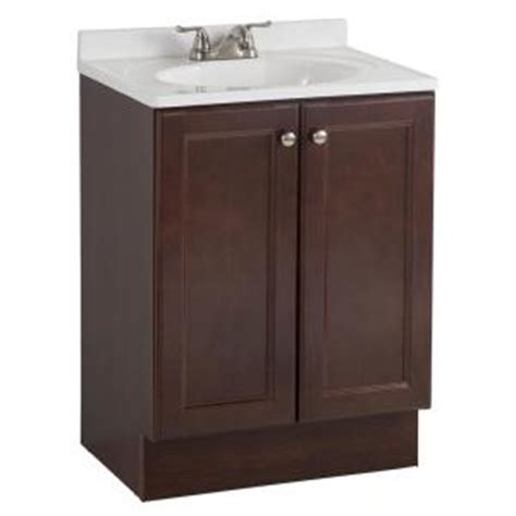 Home Depot Bathroom Vanity Sink Combo by Glacier Bay All In One 24 In W Bath Vanity Combo In