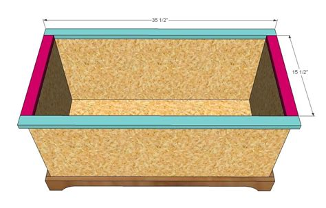 woodworking plan build wooden toy chest