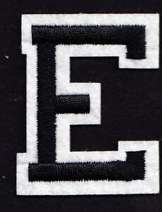 letters  black white letter  iron  embroidered applique ebay