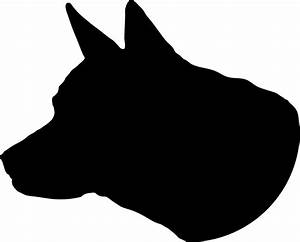 Clipart - Dog Head Silhouette