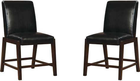 belinda ii espresso counter height chair set of 2