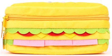 funny sandwich bread plush pencil case  japan pencil