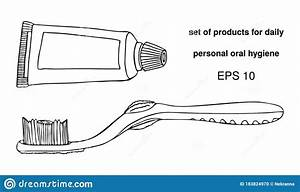 Set Products Items For Daily Personal Oral Cavity Hygiene