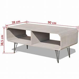 Meuble Tv 90 Cm : acheter vidaxl meuble tv 90 x 39 x 38 5 cm bois gris pas cher ~ Teatrodelosmanantiales.com Idées de Décoration