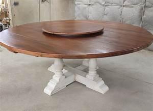 "80"" Round Drop Leaf Table - ECustomFinishes"