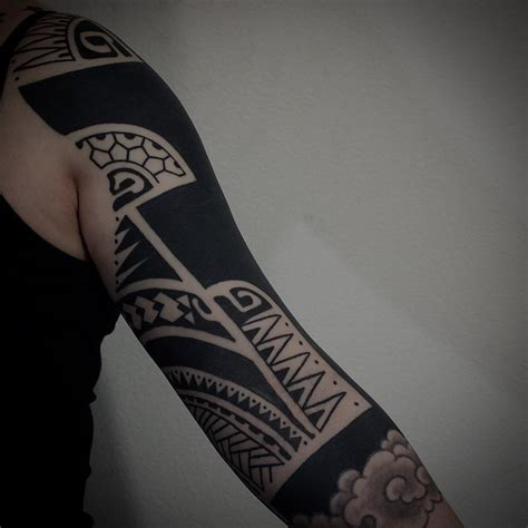 japanese style related blackwork tattoo sleeve  gotch