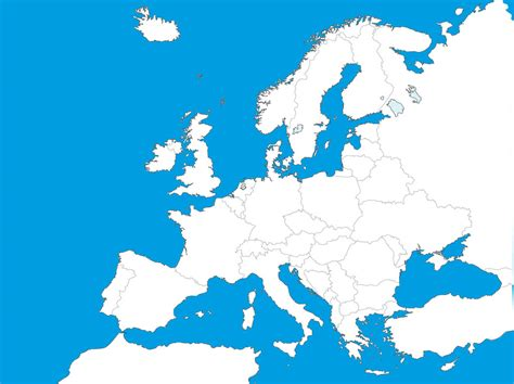 Aegee Templates by Map Of Europe Template Free Vectors Ui Download