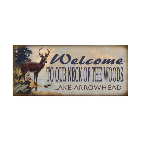 neck   woods  wood signs