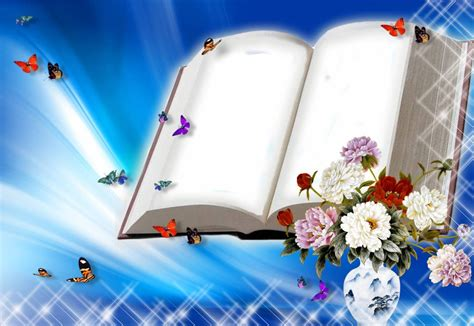 Ppt Wallpapers Animations - free blank book with flowers and butterflies backgrounds
