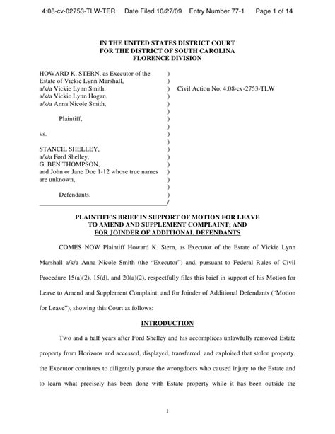 memo in support of motion to amend and add defendants