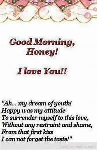 Good Morning Honey I Love You - DesiComments.com