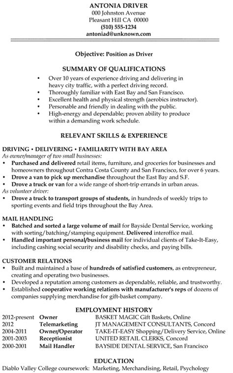Resume Truck Driver Position by Warehouse Resume Sles Archives Damn Resume Guide