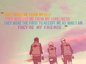 Team 7 // Naruto Uzumaki // Friends quote   Anime ...