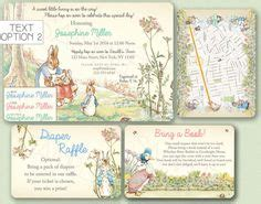 Beatrix potter invitations menshealtharts beatrix potter baby shower invitation shower invitations babies and etsy filmwisefo
