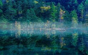 Wallpaper, Japan, Sunlight, Trees, Landscape, Forest, Lake, Water, Nature, Reflection, Green