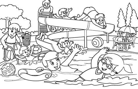 gambar untuk mewarnai kolam renang