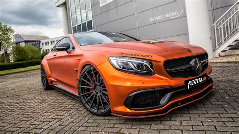orange mercedes fostla goes all out with prior design mercedes amg s63