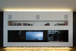 Living room inspiring interior with tv wall