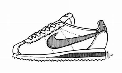 Nike Drawing Gump Forrest Shoes Running Cortez