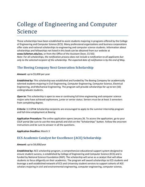 sle engineering scholarship essay templates at