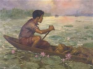 Fernando Amorsolo - Elias And Ibarra on Pasig...