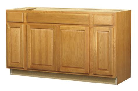 60 kitchen sink base cabinet value choice 60 quot huron oak standard 4 door sink base cabinet