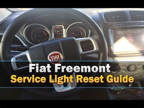 change engine oil light reset  fiat
