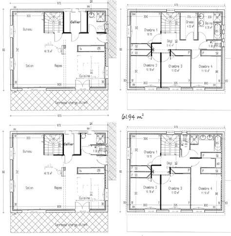 plan maison etage 4 chambres avis sur notre plan maison à étage avec 4 chambres 127m2