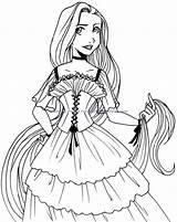 Coloring Disney Princess Pages Printable Medium sketch template