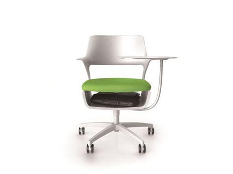 siege steelcase fauteuil avec tablette écritoire pour réunions modulables