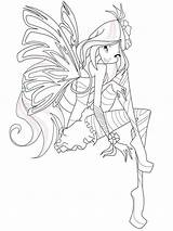 Winx Flora Coloring Club Crew Cut Printable Template Shoes sketch template