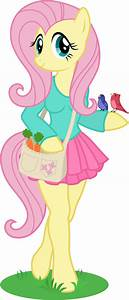 Anthro Fluttershy by Chimajra on DeviantArt