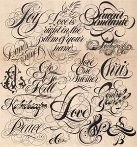 Tattoo Fonts and Tattoo Lettering for Your New Tattoo ...