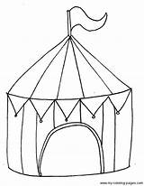 Circus Tent Coloring Preschool Carnival Crafts Theme Colouring Activities Printable Printables Craft Tents Sketch Drawing Circustent Sheets Clown Zirkus Getdrawings sketch template