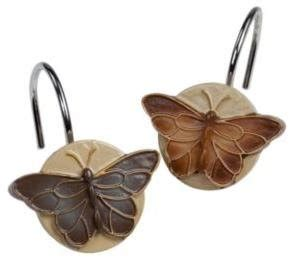butterfly shower curtain hooks bora bora butterfly shower curtain hooks home