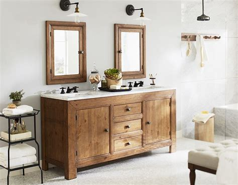 Pottery Barn Bathroom Cabinets by Decorating Ideas For Small Bathrooms My Home Redo