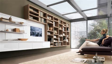 future house design modern living room wall units