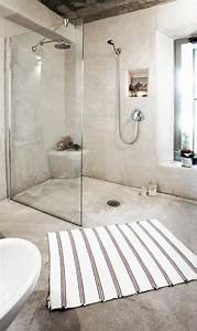 les 25 meilleures idees de la categorie salle de bain en With salle de bain beton cire blanc
