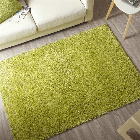 tapis vert anis shaggy pop l 120 x l 170 cm leroy merlin