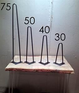 Table Pied Epingle : pied de table en pingle 30 cm brut hairpin legs fait ~ Edinachiropracticcenter.com Idées de Décoration