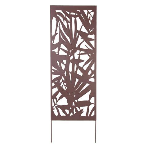 table cuisine blanc nortene treillage décoratif métal feuille brun