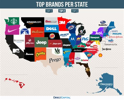 The Top Searched Brands By State  Mount Rantmore